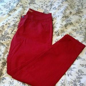 Bright red super skinny